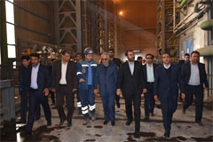 بازدید استاندار فارس و نماینده مجلس از طرح توسعه ذوب آهن پاسارگاد