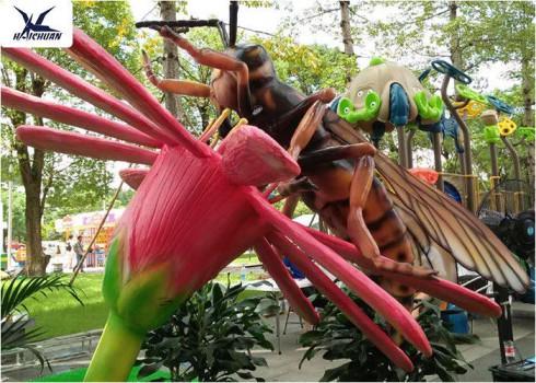 پیشرفت ۷۰ درصدی پروژه ملی پارک حشرات و خزندگان غول پیکر