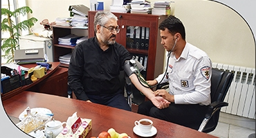 طرح بسیج ملی کنترل فشار خون، در بین کارکنان بیمه ملت اجرا شد