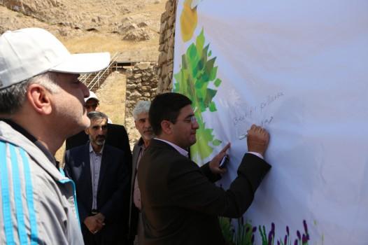 """گردهمایی محیط زیستی مسئولین شهری منطقه ۲۰ در """"گنبد اینانج"""""""