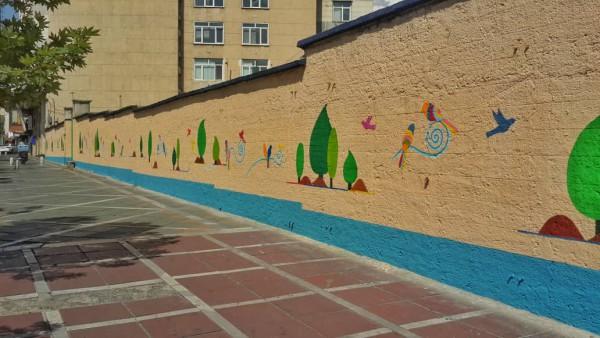 ۳۱ هزار مترمربع از دیوارهای قلب پایتخت نقاشی شده است