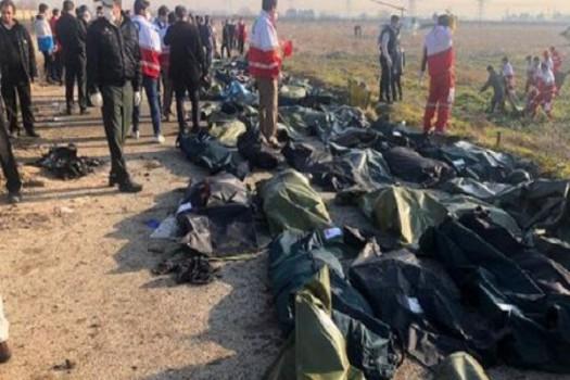 جان باختگان سانحه هواپیمای اوکراینی در حکم شهید محسوب میشوند
