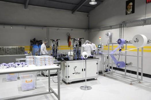خط تولید تمام اتوماتیک ماسک سه لایه به بهرهبرداری رسید