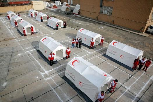 استقبال بیماران ازخدمات مرکز سلامت هلالاحمر ایران در ساحل عاج