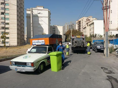 مخازن پسماندتر در محله پاک شمال تهران، جمع آوری شد