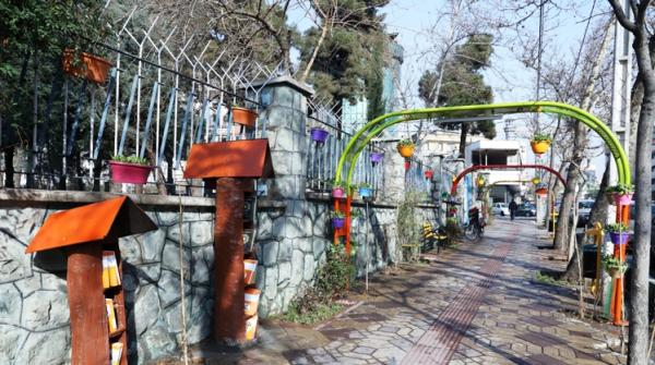 اتمام پروژه باغ راه طبیعت در خیابانهای سهروردی و بهار