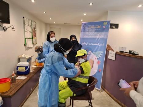 انجام طرح واکسیناسیون کووید ۱۹ پاکبانان شمال تهران