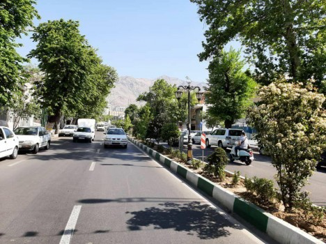 پیاده راه خیابان شریعتی در شمال تهران باغ راه می شود