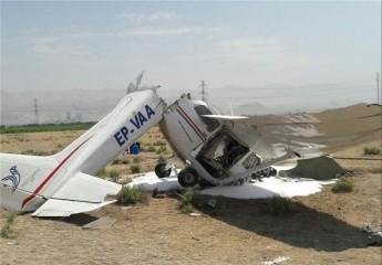 ۲ سرنشین هواپیمای آموزشی پس از سقوط در فرودگاه اراک جان باختند