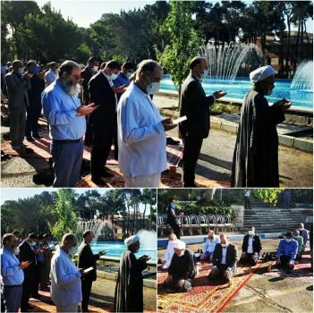 نماز عید سعید فطر در فضای باز قلب پایتخت برگزار شد