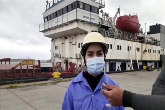 آغاز به کار نخستین بانوی ملوان ایرانی در دریای خزر