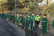 اجرای طرح ویژه نگهداشت شهر در منطقه۲ تهران